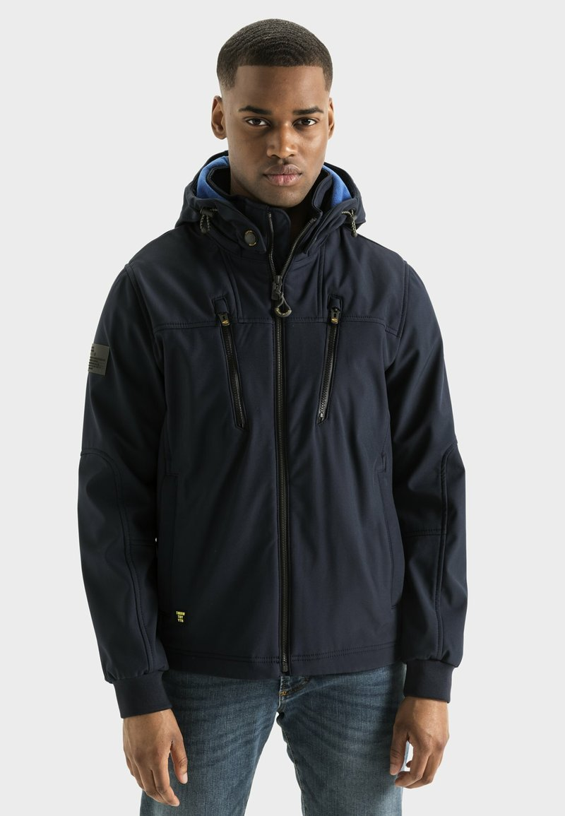 camel active - MIT STEHKRAGEN UND KAPUZE - Summer jacket - navy