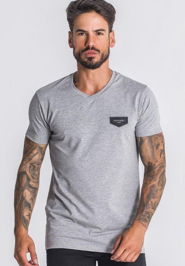 Basic T-shirt - grey melange