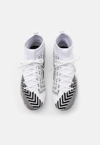 Nike Performance - MERCURIAL JR 7 ACADEMY MDS FGMG UNISEX - Moulded stud football boots - white/black - 3