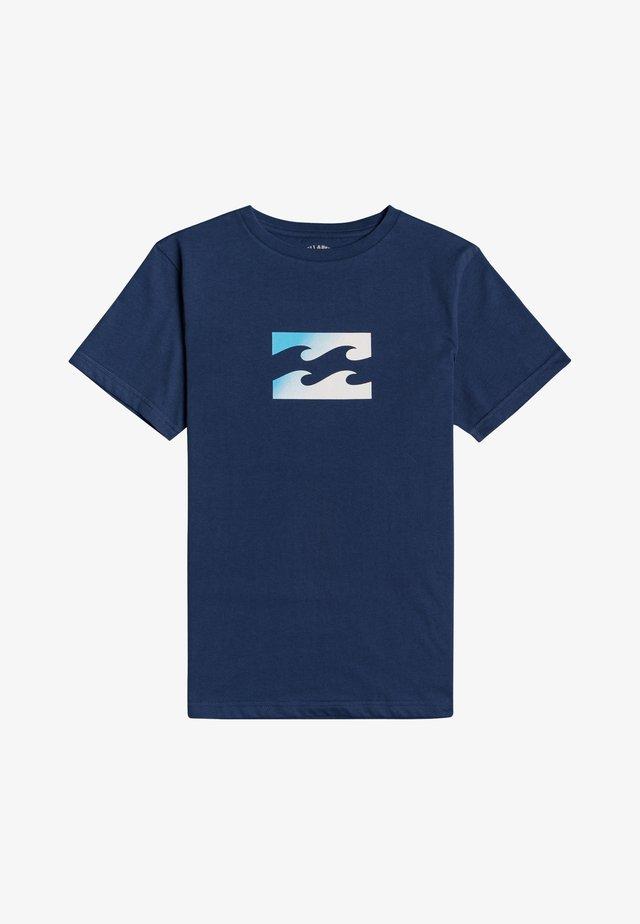 T-shirt con stampa - denim blue
