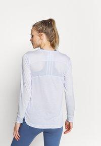adidas Performance - UFORU - Long sleeved top - blue melange/black - 2