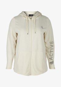 Active by Zizzi - Zip-up hoodie - beige - 3