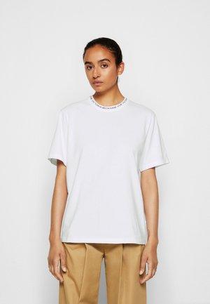 LOGO RIB - Basic T-shirt - white