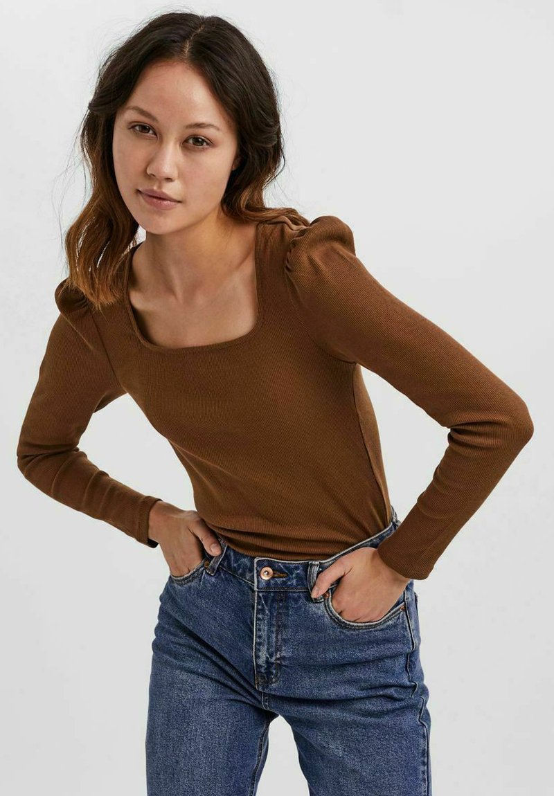 Vero Moda - NATASHA  - Long sleeved top - brown