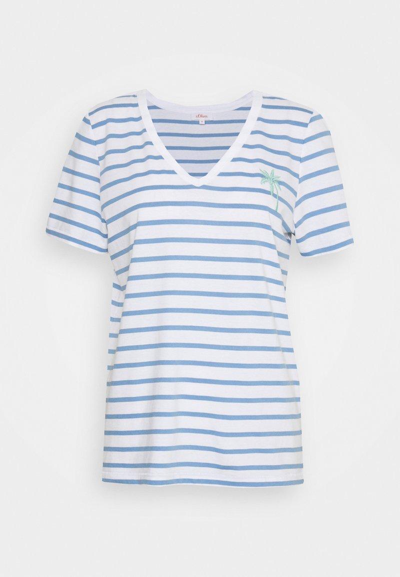s.Oliver - Print T-shirt - blue lagoon