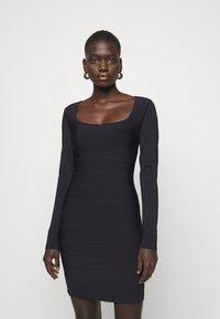 Hervé Léger - DRESS - Sukienka etui - black - 0