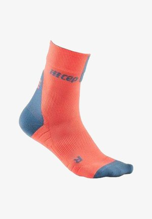 COMPRESSION 3.0 SHORT - Sports socks - orangegrau