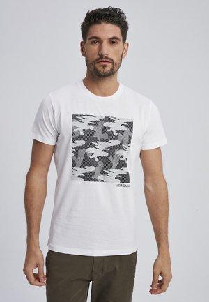 CARVER - Print T-shirt - white