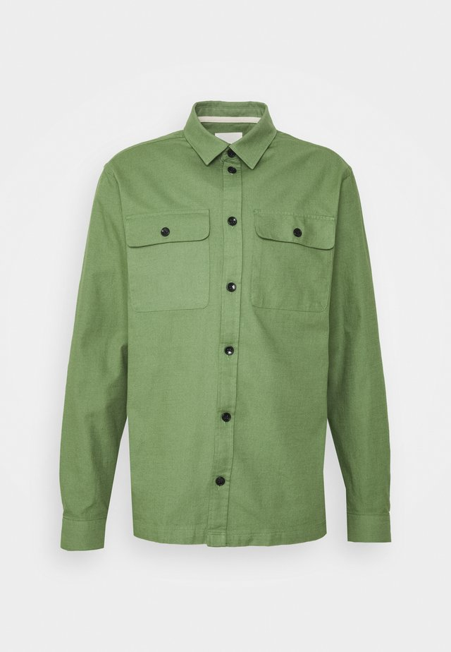 AKOSCAR SLUB - Camicia - vineyard green