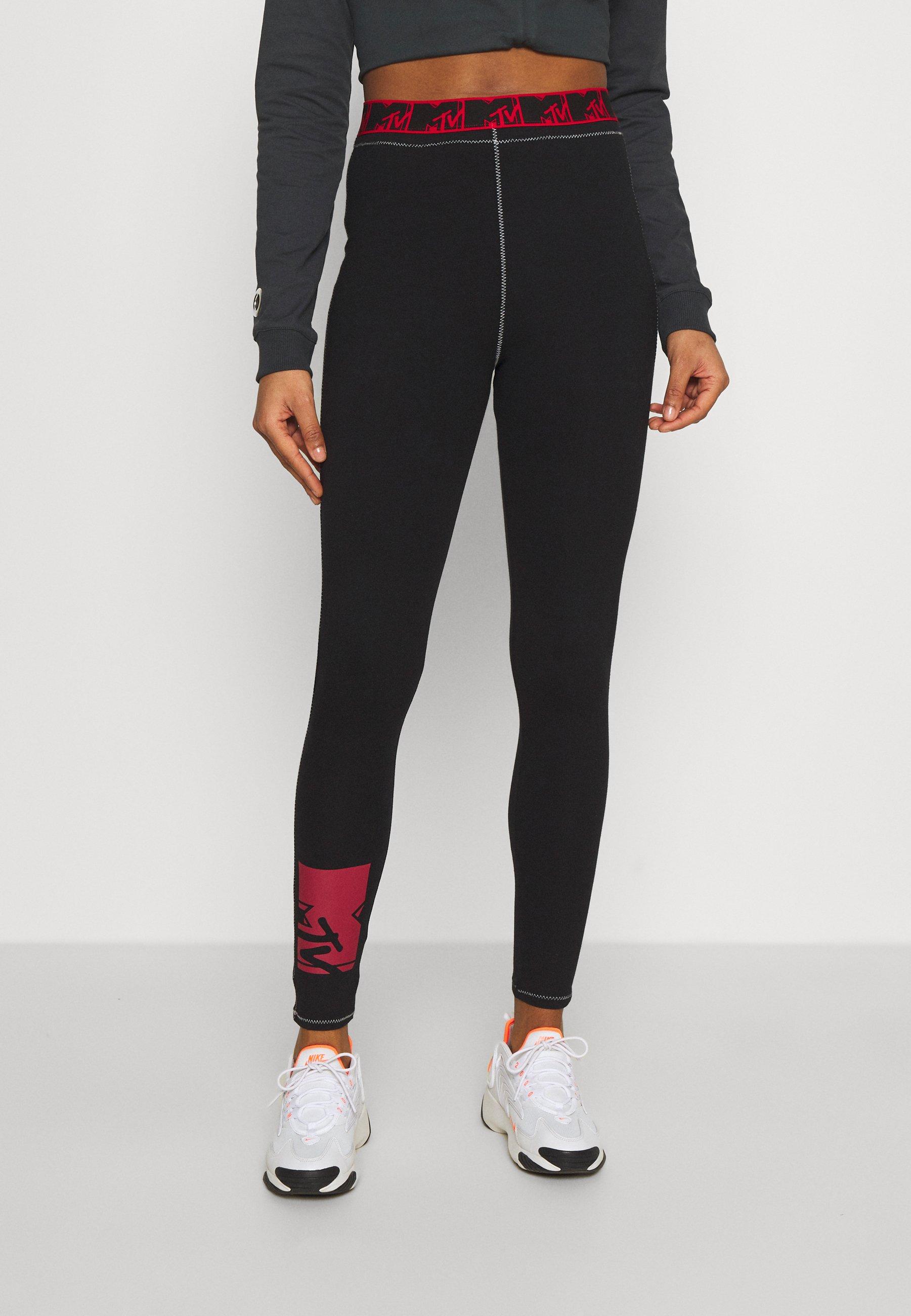 Women Leggings - Trousers - red