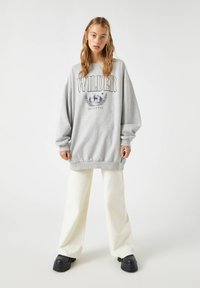 PULL&BEAR - Sweatshirt - mottled dark grey - 1