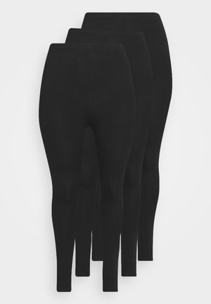 3 PACK - Leggings - Hosen - black
