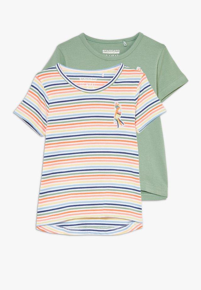 2 PACK - Camiseta estampada - neon peach
