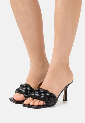 SANDRA - Heeled mules - black