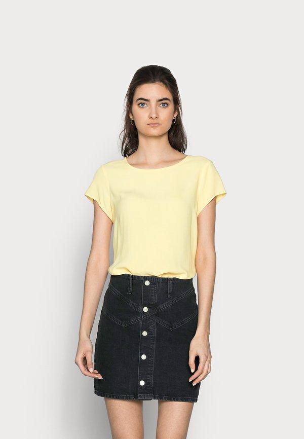 Vero Moda Tall VMBOCA - Bluzka - cornsilk/jasnoniebieski RXIN