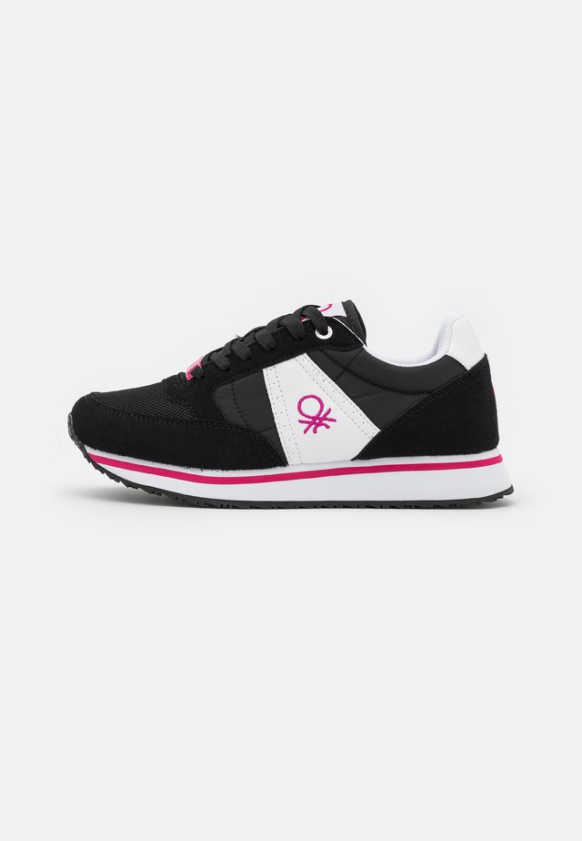 WORD MIX - Sneakers laag - black/white