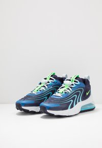 Nike Sportswear - AIR MAX 270 REACT ENG - Sneakers - blackened blue/green strike/pure platinum/team royal/blue fury/aura - 2