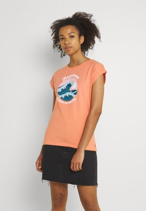 VISBY HAPPINESS - Print T-shirt - crabapple