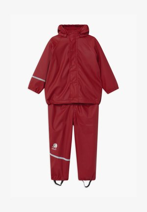 RAINWEAR SET UNISEX - Rain trousers - rio red