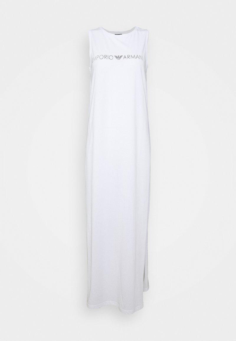 Emporio Armani - LONG TANK DRESS - Beach accessory - white/silver logo