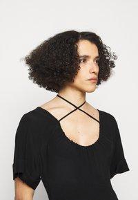 Victoria Beckham - TIE DETAIL SHORT SLEEVE  - Day dress - black - 3