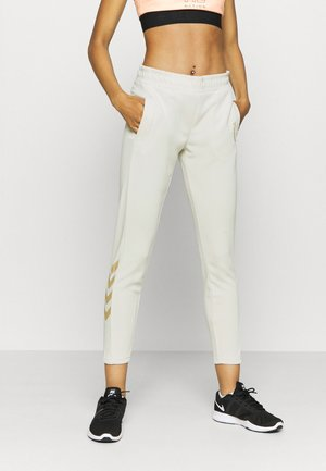 HMLZIBA TAPERED PANTS - Træningsbukser - bone white