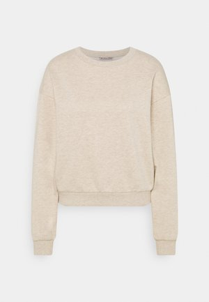 Basic crew neck with rib - Sudadera - mottled beige