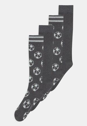 KNEE HIGH 4 PACK - Knee high socks - mottled dark grey