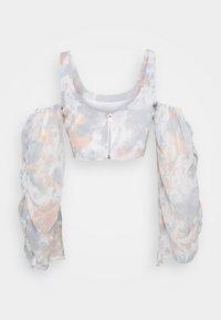 Missguided - COLD SHOULDER CORSET MARBLE - Blusa - pink - 1