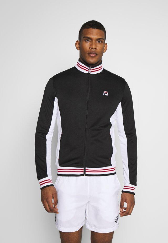 OLE FUNCTIONAL - Treningsjakke - black/white