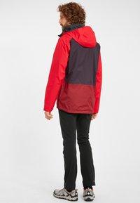 Columbia - RAIN SCAPE - Waterproof jacket - dark purple, mtn red, red jasper, shark - 2