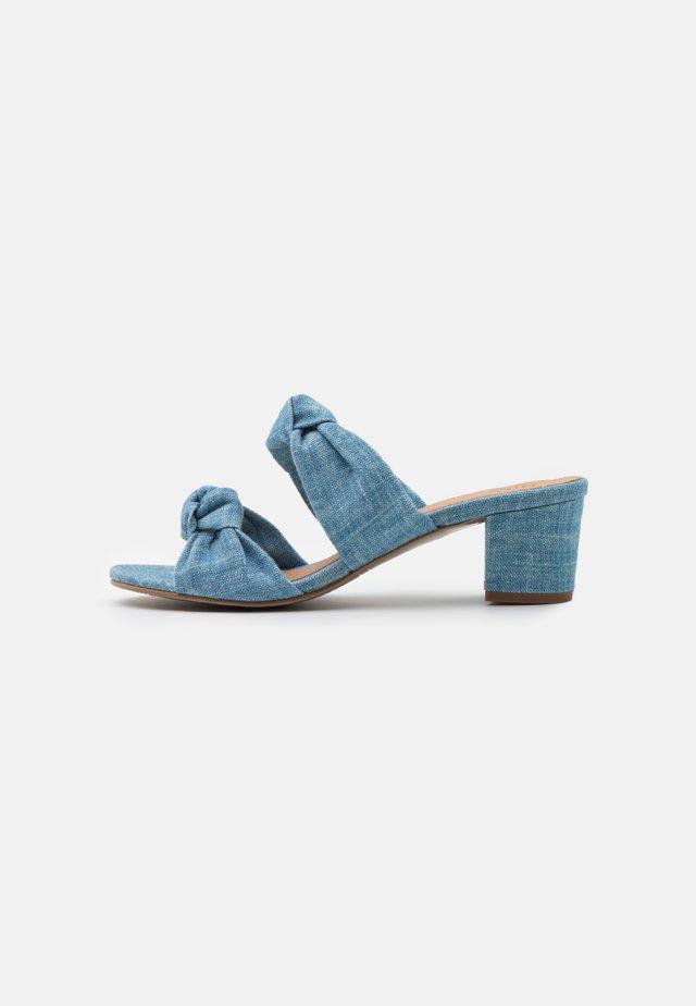 JACKIE VEGAN  - Heeled mules - blue