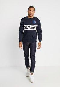 Alpha Industries - NASA INLAY  - Mikina - blue - 1
