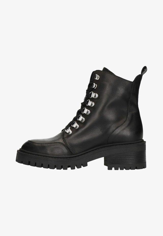 MIT BLOCKABSATZ - Lace-up ankle boots - black