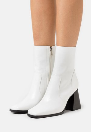 LANIE - Classic ankle boots - white