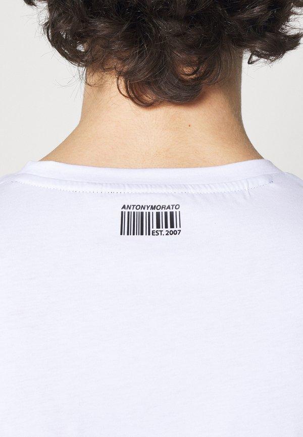 Antony Morato SLIM FIT WITH LOGO - T-shirt z nadrukiem - bianco/biały Odzież Męska QQBP
