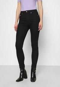 Calvin Klein Jeans - HIGH RISE ANKLE - Skinny džíny - denim black - 3