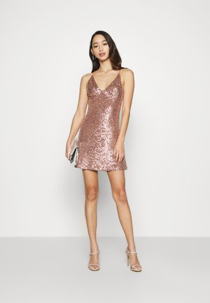 STRAPPY SEQUIN MINI - Cocktailkjoler / festkjoler - nude