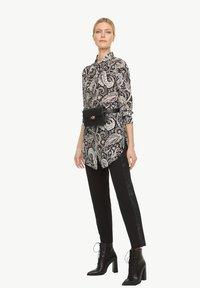 comma - Button-down blouse - black paisley - 4