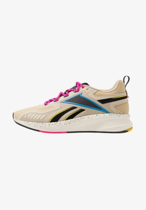 FUSIUM RUN 20 - Neutral running shoes - utility beige/black/proud pink