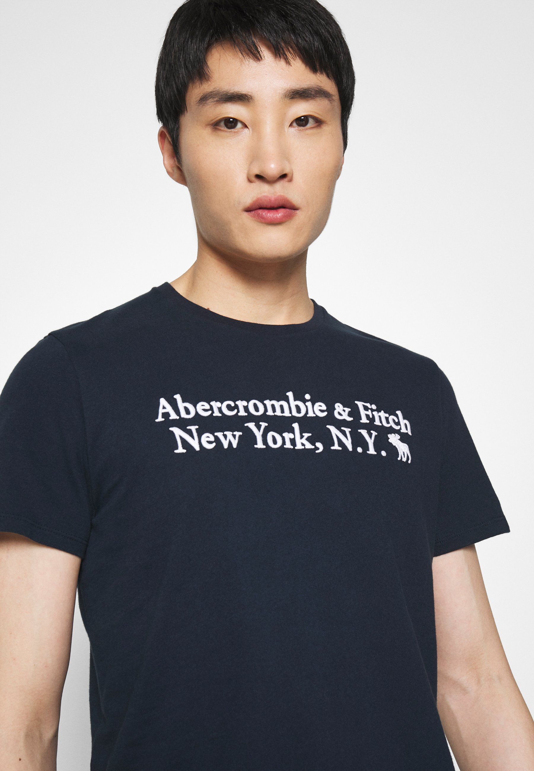 Abercrombie & Fitch T-shirts Med Print - Navy/mørkeblå