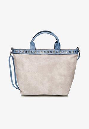 Shopper - helltaupe, blau