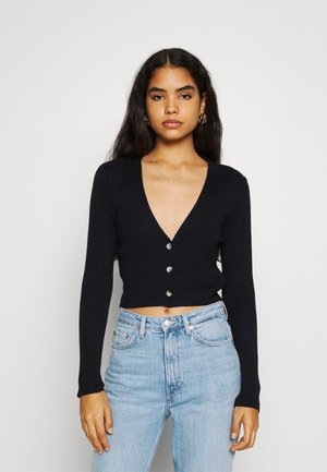 CROP CARDIGAN - Cardigan - black