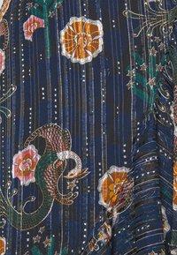 Scotch & Soda - PRINTED WRAP SKIRT IN SHEER STRIPE - Áčková sukně - blue - 2
