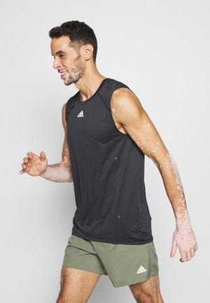 ADIZERO HEAT.RDY SPORTS RUNNING SINGLET TANK - Sports shirt - black