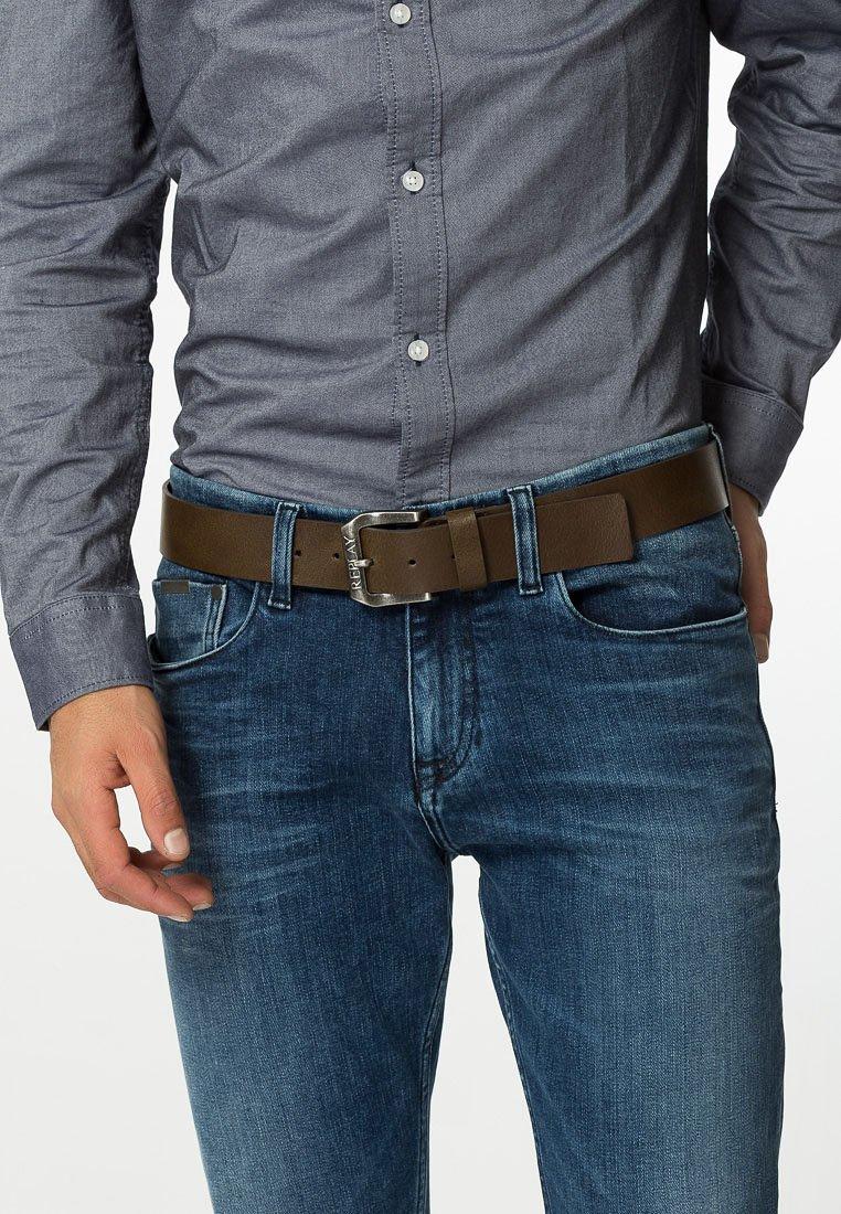 Replay - Belt - dark brown wood