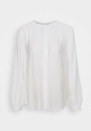 BLOUSE WITH BUTTON DETAIL - Blouse - whisper white