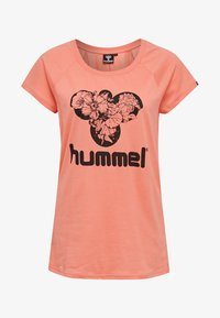 Hummel - Print T-shirt - peach - 0