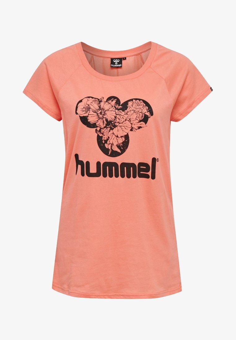 Hummel - Print T-shirt - peach