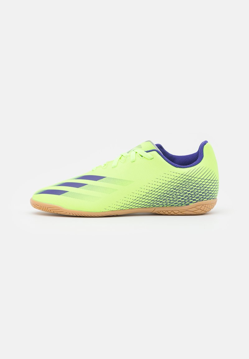 adidas Performance - X GHOSTED.4 FOOTBALL SHOES INDOOR UNISEX - Indoor football boots - signal green/energy ink